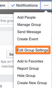 Edit Group Settings