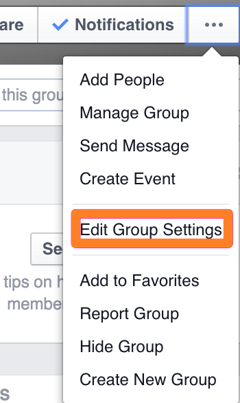 Edit Group Settings