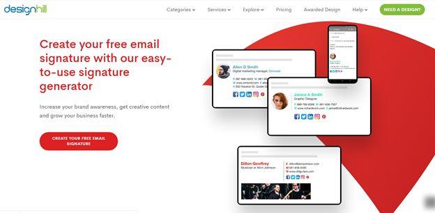 DesignHill - Email Signature Generator