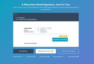 HubSpot - Email Signature Generator